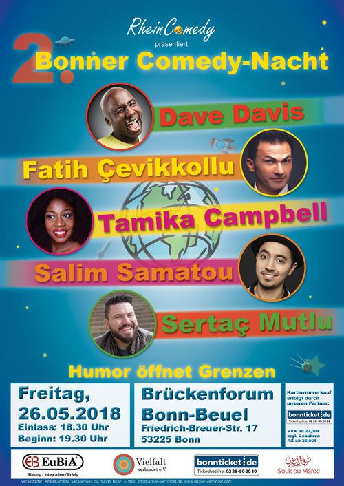 Plakat für die 2. Bonner Comedy-Nacht